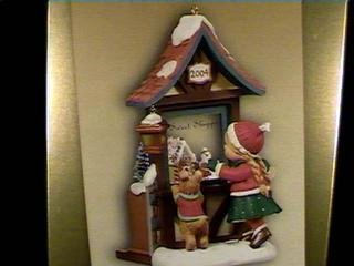 QXC4003 Christmas Window 2nd 2004 Hallmark Keepsake Club Ornament ()