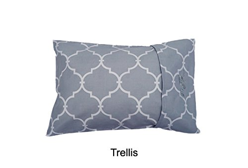 MyPillow Roll N Go Travel Pillow Rolls Into It's Own Pillow Case, Included (Trellis)