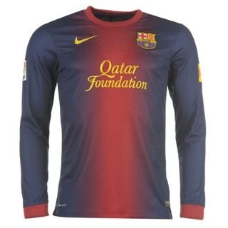 Nike Barcelona Home Long 13 Sleeve 2012 Football Red Shirt AqBq7z