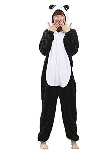 Adult Women and Mens Onesies Kigurumi Cute Panda Onesie Cosplay Costumes Pajama Party Wear Medium