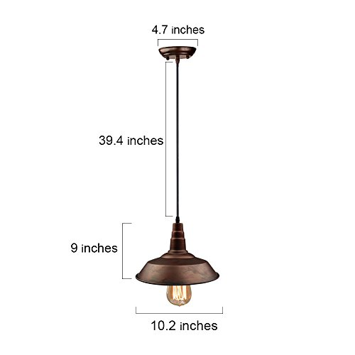 LNC Blackened Steel Pendant Lighting Indoor Pendant Lights
