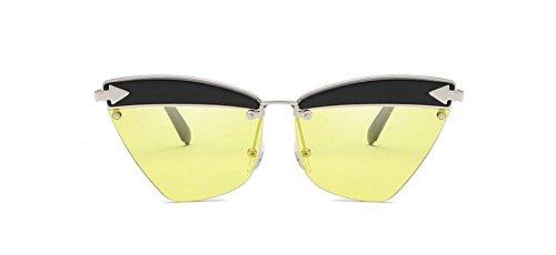 de en Film inspirées vintage soleil métallique polarisées cercle du style retro lunettes Lennon Marin Jaune rond dSzqwfd