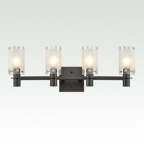 axiland bath vanity light bar fixture orb finish with 4 frosted glass shades by axiland - Vanity Light Bar