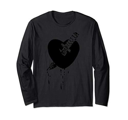 Knife Through Heart Emo Music Long Sleeve Shirt