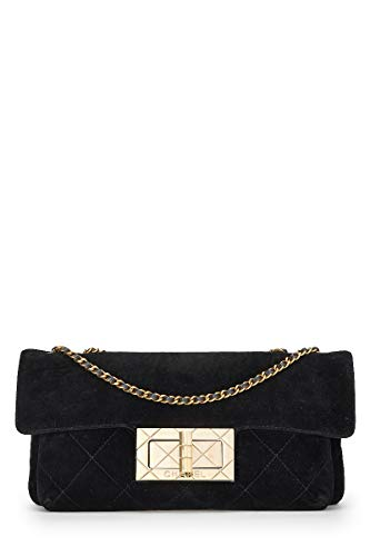 CHANEL Black Quilted Velvet Reissue Flap Shoulder Bag - Bag Chanel Flap