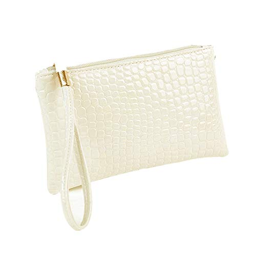 Bag Handbag Purse Coin Kinrui Women Leather Purse Clutch Crocodile White Women 0167wPq