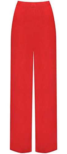 Rosso Comfiestyle Evasé Mujer Pantalón Para rIIwPaxq