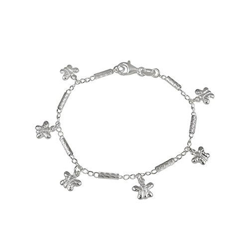 ver 6 Butterflies Charm Bracelet with Bracelet Length of 177.8MM ()