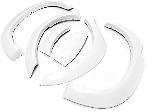 ホイールトリムアイブロウ トヨタハイラックスとの互換性ホワイトフロントホイールフェンダーフレア2005-2011 (色 : 白, サイズ : ワンサイズ)