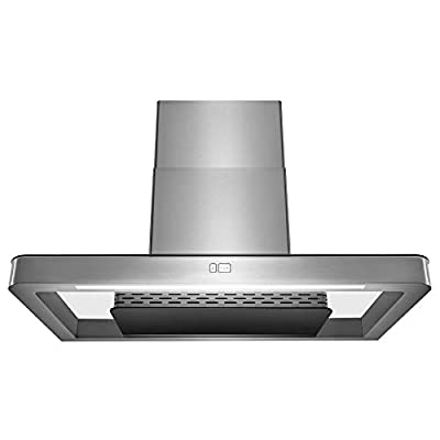 "AKDY Wall Mount Range Hood –36"" Stainless-Steel Hood Fan for Kitchen – 3-Speed Professional Quiet Motor – Premium Touch Control Panel – Minimalist Design – Mesh Filter & LED Lamp – Tempered Glass"