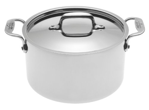 All-Clad 5304 Stainless Steel Casserole with Lid Cookware, Silver