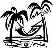 Tree Bent Palm - Chase Grace Studio Beach Palm Trees Hammock Vinyl Decal Sticker|BLACK|Cars Trucks Vans SUV Laptops Wall Art|5.25