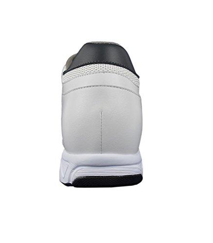 da Scarpe Zerimar Aumentano Che 7 di Uomo Aumentano Indoor Altezza con Escursioni Scarpe Casual da la per Scarpe Bianco Uomo Sportive cm Uomo Loro p6vZp