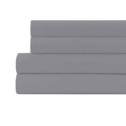 800 Thread Count 100% Egyptian Cotton 21 Inches Deep Pocket Sheet Set, Silver Grey Solid King Sheets 4 Piece Set