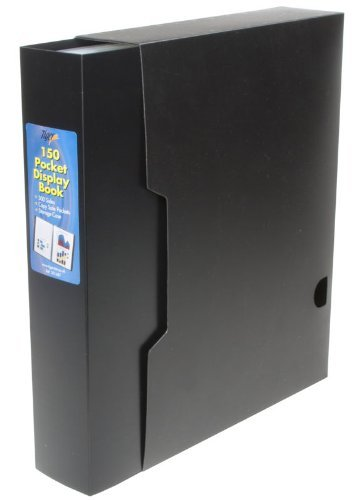 Tiger A4 150 pocket presentation display book black folder with storage case - rigid stiff cover for 300 views/sides/pages by Tiger