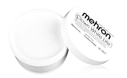 Mehron Makeup Clown White Lite – 7oz (Mime Artist Makeup Halloween)