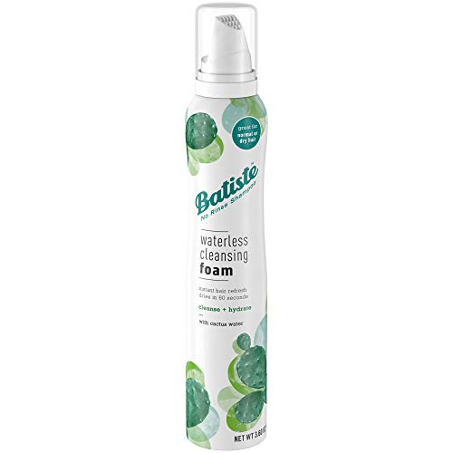 Batiste Waterless Cleansing Foam Cleanse and Hydrate with Cactus Water, 3.60 OZ