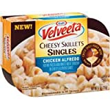 Kraft Velveeta Chicken Alfredo Cheesy Skillets Singles Microwave Dinner 9 oz (Pack of 6)