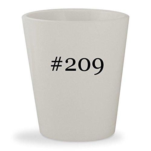 #209 - White Hashtag Ceramic 1.5oz Shot Glass