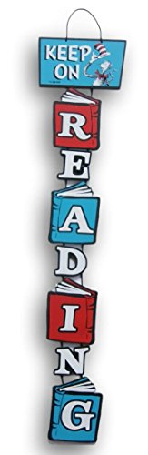 Cat in the Hat Stacked Reading Sign - 30 Inches (Party City Dr Seuss Hat)
