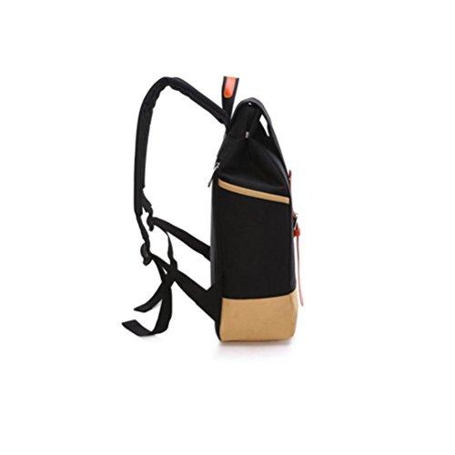 QPYC Student Schultertasche Oxford Knapsack Reisetasche Männer WomenCollege Style Einfache Rucksack black Hgi9w