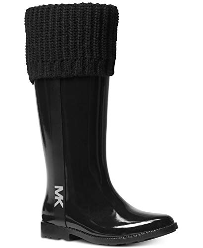 Michael Kors Rain Boots - Michael Michael Kors Mandy Rain Boots Black, Black, Size 10.0