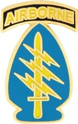 Lapel Forces Pin Special - US Army Airborne Special Forces Lapel Pin