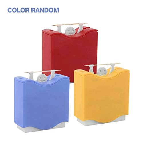 Weight Lifter Automatic Toothpick Holder Bucket Home Bar Table Accessories (Lifter Holder Weight Toothpick)