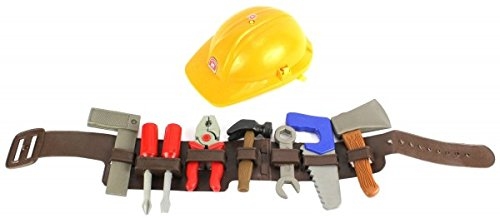 Lil Handy Man Pretend Play Children's Toy Tool Belt Set, Perfect for your Little Builder