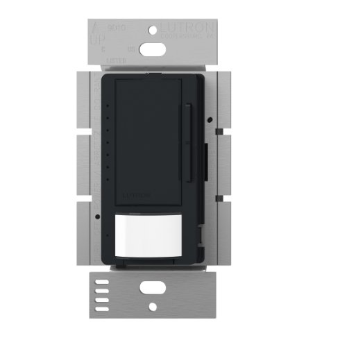 Lutron Maestro LED Dimmer switch with motion sensor, no neutral required, MSCL-OP153M-BL, Black