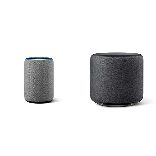All-new Echo (3rd Gen) Heather Gray with Echo Sub