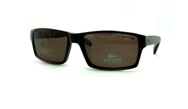 1e4c060dcb Amazon.com  AUTHENTIC LACOSTE LA12414 LA 12414 BR BROWN FRAME BROWN  POLARIZED LENS SUNGLASSES SHADES 57MM  Clothing