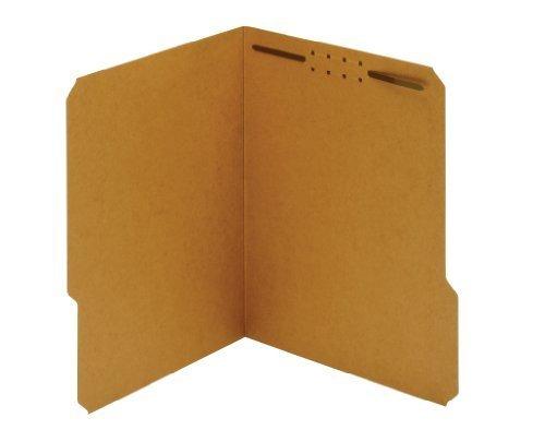 Globe-Weis Fastener Folders, 1/3 Cut, Reinforced Tab, 1 Fastener, Letter Size, Kraft, 50 Folders Per Box (24834) by Globe Weis