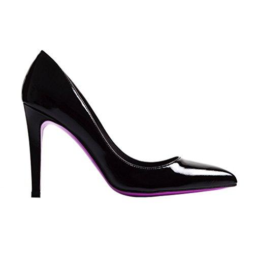 Pink Verni Noir 41 En Haut Stiletto Talons Heel Cuir The Numero FpadqHF