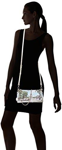 YNOT Baguette Chain, Borsa a Tracolla Donna, 5x14x25 cm (W x H x L) Multicolore (Multicolore Champs Elysees)
