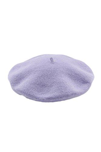 - Women Elegant Vintage 1940's 50's Street Style Autumn Winter Berets Painter Hat Cap Purple One Size