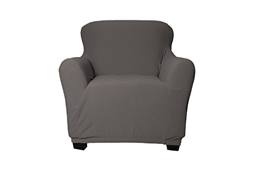 amazoncom duck river textiles quick fit stretch velvet cover chair grey home u0026 kitchen