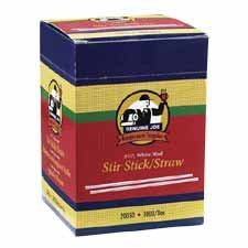 Genuine Joe : Stir Sticks, Plastic, For Hot/Cold, 1000/BX, White/Red -:- Sold as 2 Packs of - 100 - / - Total of 200 Each
