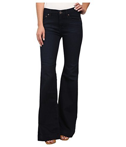 Free People Womens Denim Flare Flare Jeans Blue 24