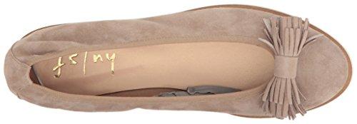 Suola Francese Fs / Ny Donna Wyatt Balletto Piatto Taupe Scamosciato