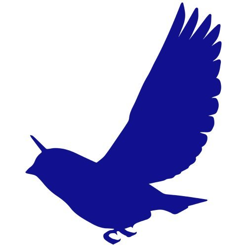Dove Decal Set - Set of 3 - Dove Bird Decal Sticker Color: Blue, Peel and Stick Vinyl Sticker