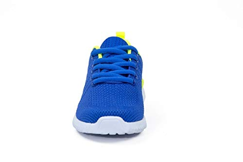 Pictures of Kids Athletic Tennis Shoes - Little Kid Sneakers with Girl and Boy Sizes Blue/Green Size 1 Little Kid (Azul/Verde - 32) 1 M US 6