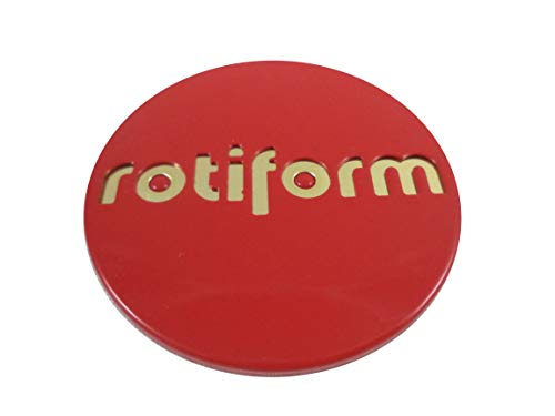 RotiForm Red/Gold Emblem Custom Wheel Center Caps # 1003-40RG (Set of 4)