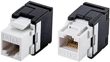 24pcs//pack RJ45 Cat5e keystone type shielded female adaptor for blank panel
