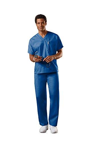 Cherokee Uniforms Authentic Workwear Unisex Scrub Set (Galaxy Blue, L) (Uniform Scrub Shop)