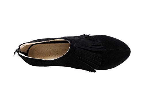 Ei&iLI Bottes Femmes Printemps / Automne / Hiver Bottes d'équitation / Bottes de mode Similicuir Extérieur / Décontracté Talon aiguille Tassel , black , 37