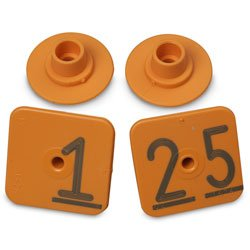 Allflex Numbered Piglet Male Tags - 1-25 Orange - C31223(A)N