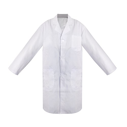 TopTie Everyday Scrubs Lab Coat for Women and Men-White-L for sale  Delivered anywhere in Canada