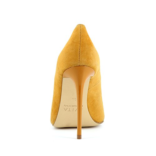 Daim Femme Shoes DESIDERIA Escarpins Ocre Evita 46HqW