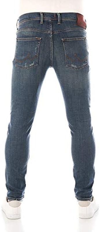 LTB dżinsy męskie Diego X - Slim Tapered Fit - niebieskie - Brian Wash W28-W42 87% bawełna dżinsy stretch: Odzież